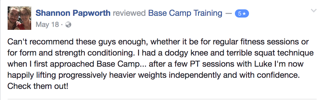 Base Camp Training Testimonial