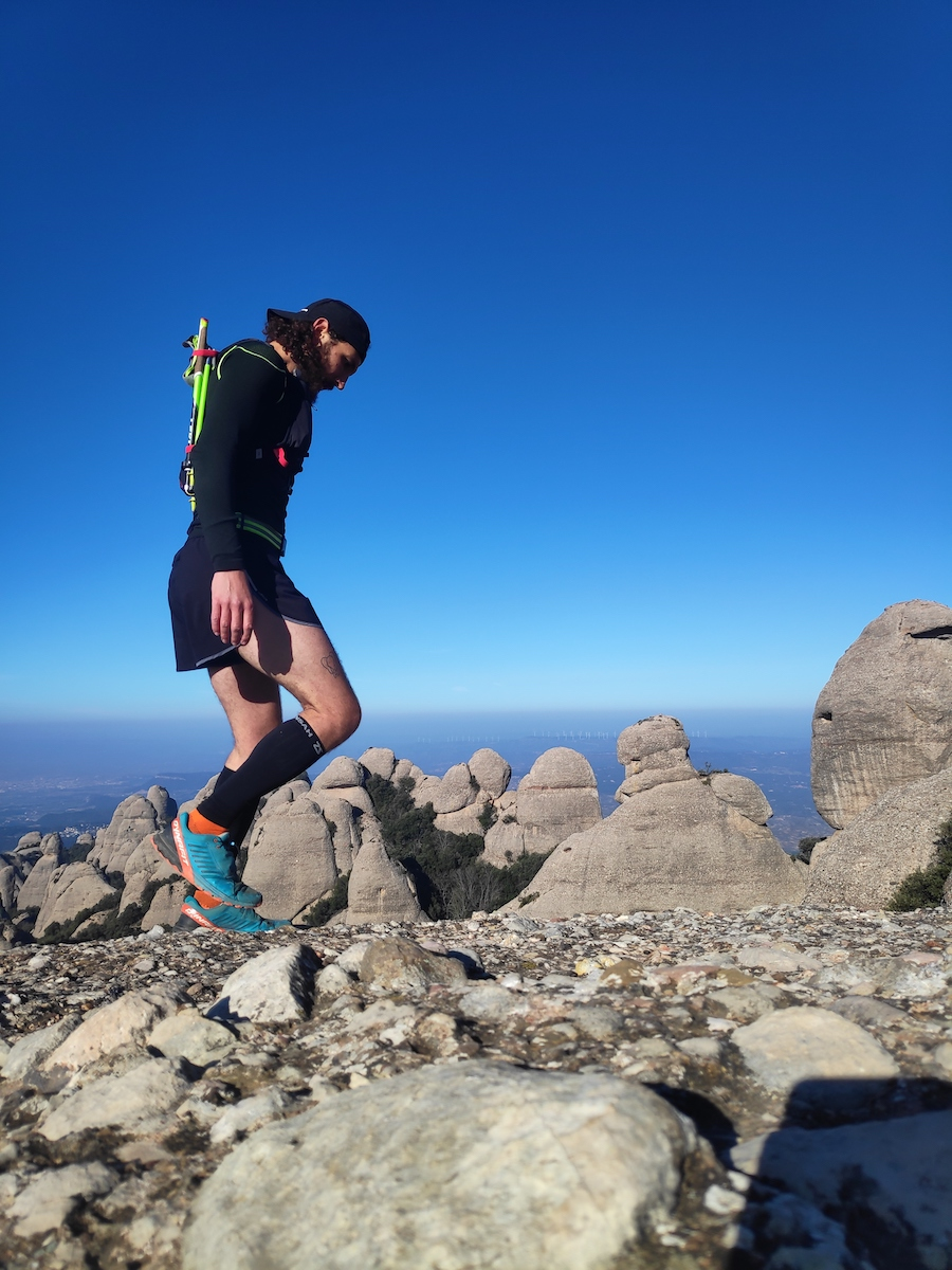 aerobic run in the Pyrenees